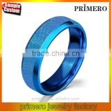 Blue Ring 316l stainless steel Party Jewelry For Men Women Matte USA Size
