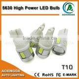 2015 New And Hot Products non-polarity T10 Ba9s 5630 auto led lamps, AC12V 6leds white car led bulbs with lens
