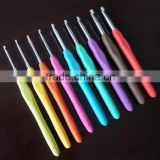 Soft handle crochet hooks set