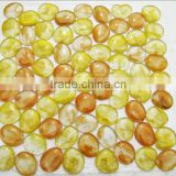 Building material yellow pebble glass mosaic