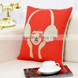 18 inch Jute Cushion Covers, Sofa Pillow Cases, Pillow Covers 45x45cm,