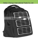 Exquisite hiking chargeable black solar panel backpack