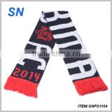 Long Style of Length and Plain football scarf Style football scarf                                                                         Quality Choice