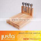 new design folded wooden cutting board for cheese knife