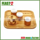 New style fashion bamboo cutlery tray