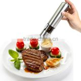Automatic Stainless Steel Pepper Mill Battery Powered Salt Grinder Electric Kitchen Spice Grinder