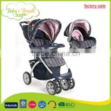 BS-12B wholesale softtextile baby stroller 3 in 1 with carrycot and carseat, brand good baby stroller                                                                         Quality Choice