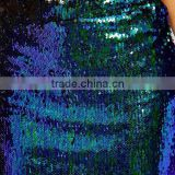 Women's Package Hip Peacock Blue Sequins Long Pencil Skirt OEM ODM Type Clothes Factory Guangzhou Customization supplier