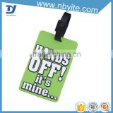 eco-friendly plastic custom made security luggage tags silicone for kids