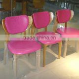 modern restaurant wood dining chair - fashion chair wood dinning chair with upholster
