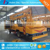 Small cheap price 12m platform height made in china /high-altitude operation truck /hydraulic high lift work platform folding