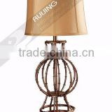 Bamboo metal classical table lamp