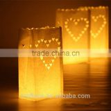 Lovely hand-made candle bags for wedding