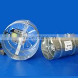 Hydroponics Duct Tube AC Fan with a High Impact Polycarbonate Blade for Greenhouse