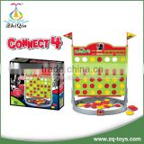 Plastic educational connect four game board game toys with En71,7P