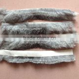 Factory Direct Wholesale Price Rea Fur Trim For Shoes / Rex Rabbit Fur Trimming For Garment