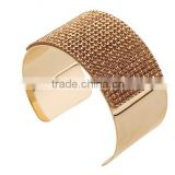 Gold Plated Screw Open Indian Jewelry Women Polki Bangle Bracelet