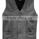 Leather Sports Vest , Leather Fashion Vest , German Vest , Black Color Mens Leather Sports Vest