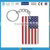 Plastic acrylic keychain blank can custom with logo