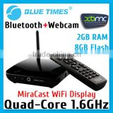 Android 4.2 RK3188 Quad Core 2GB RAM Smart TV Box XBMC Mini PC Webcam Camera Mic Bluetooth