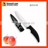 "Black color handle & PP material Blade Cover 5"" Utility Ceramic Knife Best choice for cutting boneless meat knife"
