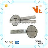 V-T018 360 degree clear Plastic goniometer protractor medical ruler Angle ruler