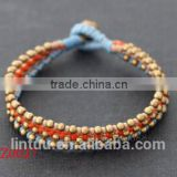 2016 latest new model beautiful multi-color wax rope bracelet vintage popular hot selling bracelets with high quality wholesale
