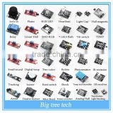 Helpful 37 In 1 box Sensor Kit--IR receiver/Joystick/Tracking/Relay/Buzzer/REG LED/Flame Motor DIY kit Good Quality