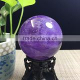 Natural Elegant Purple Amethyst Ball Crystal Sphere