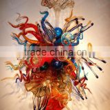 hand blown glass chandelier decoration XO-20150628&Murano glass chandelier from famous Chinese glass artist Mr Ou