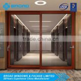 Amarican standard aluminium sliding doors/glass door with with thermal break frame from China supplier Broad