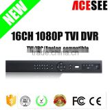New arrival!!Two way audio cloud 16CH 1080P real time hikvision hd tvi dvr with 2 sata interface