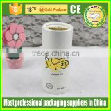 fashionable design white round box cylinder paper tube with gold stamping logo printing luxury high end quality
