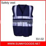 roadway flouroescent blue safety reflective vest