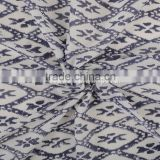 Indian Hand Block Print Fabric By Yard IKat Sanganeri Print Upholstery For Garments Ethnic Throw
