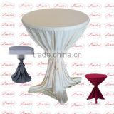 Polyester knitted scuba cocktail table cover knitted fabric wedding banquet table cloth round table cloth table cover