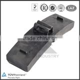 Rail Cast Iron Brake Block Shoes Pad Manufacturer