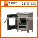 China supplier indoor freestanding enamel fireplace/wood burning stove for 800sq.ft house warming
