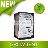 New Design Quality Portable Grow Tent Silver Mylar Green Room Hydroponic Bud Room Dark Room 1.2x2.4x2M for Gardening