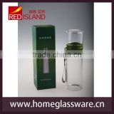 550ml heat-resistant borosilicate glass sport bottle