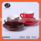 cappuccino cups and saucers,ceramic cup and saucer with logo,Porcelain set for espresso