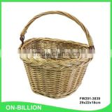 Wicker knitting small removable bicycle basket