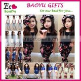 Girls Summer Clothes Set 2015 Children's Boutique Clothing Clothes Set Kids Short Sleeve Clothing Sets