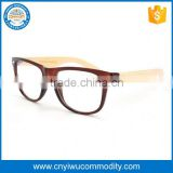 Bulk wholesale fancy half frame eyeglasses with white lenses