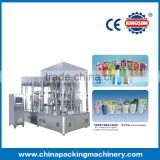 Automatic high quality stand-up pouch filling and capping machine