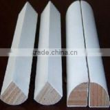 Building wall corner white primer wood molding cover base cap