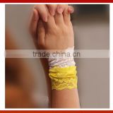 2015 New Fancy Lace Slap Wrist Band For Wedding/Rose Pattern Cotton Wide Elastic Lace Wrist Band