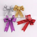 4Color Available Glitter Bow-Knot Christmas Tree Home Decoration Christmas Pendant