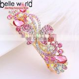 Fashion Rhinestone Butterfly Hair Barrrette Clips