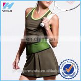 Yihao Custom Women Activewear Tennis Dress Fitness Sport Dress Clothing Wholesale 2015